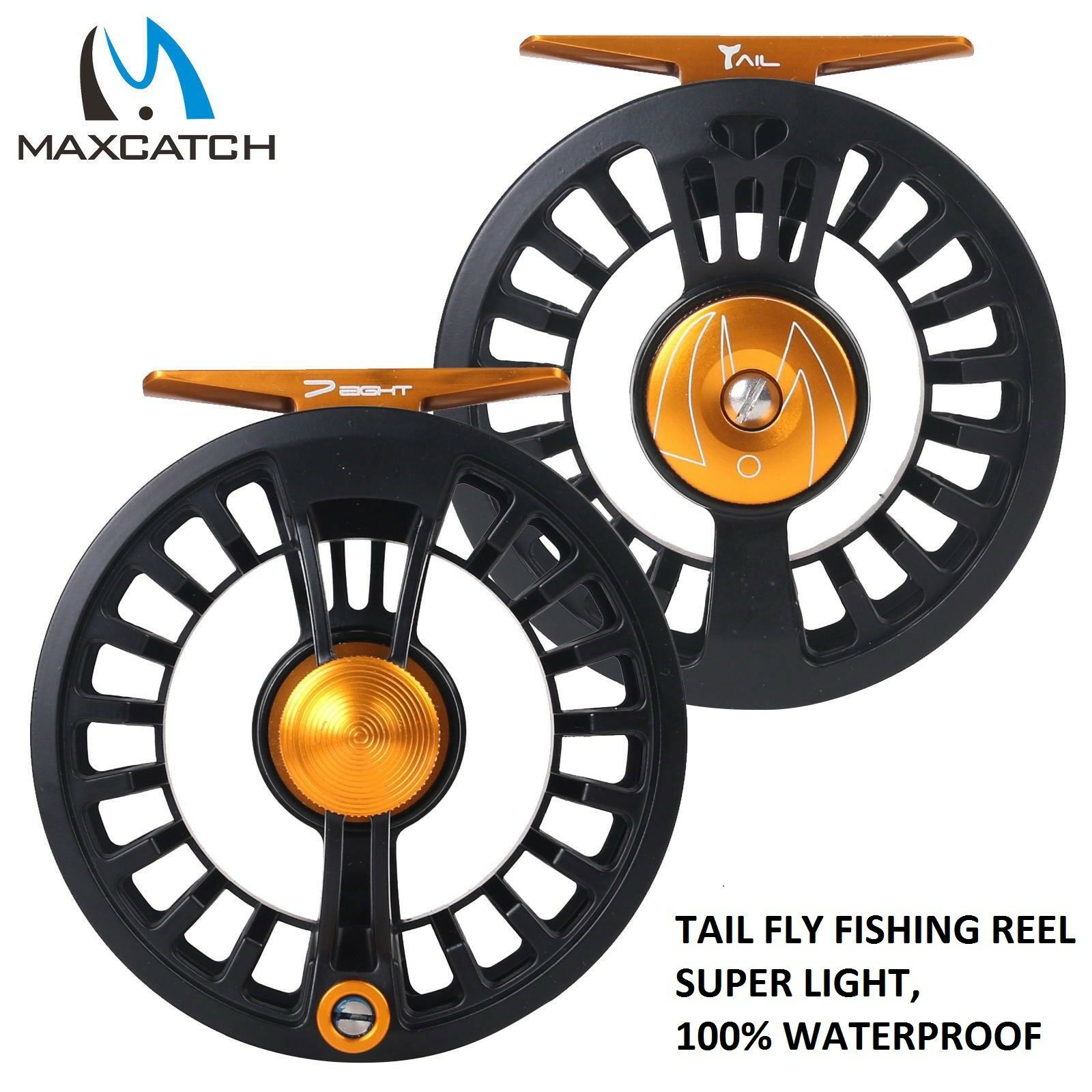 Maxcatch Tail Fly Reel  5 6 7 8wt Large Arbor 100% waterproof super and light