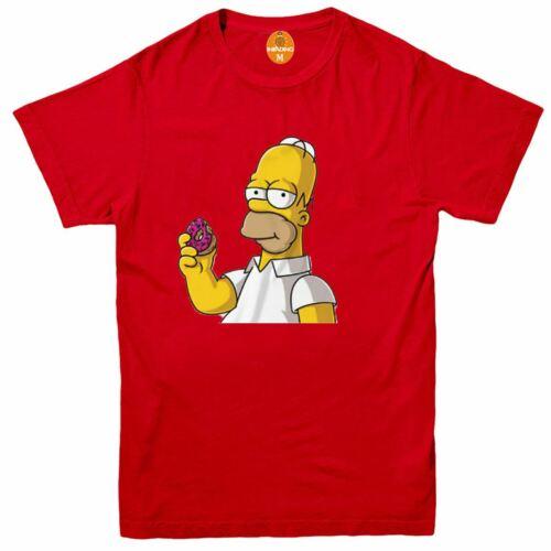 Kids Mens Homer Simpson Woohoo Donut T-Shirt Ideal For Summer