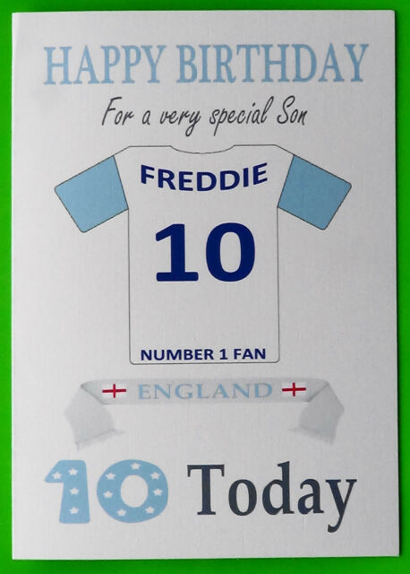 England Fan Unofficial Personalised Football Rugby Hockey Birthday