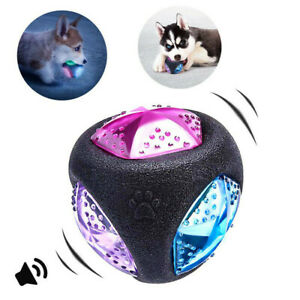 Glowing-Dog-039-s-Bouncy-Toy-Grinding-Ball-Bite-Resistant-Teeth-Chew-Pet-Training