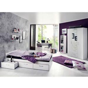 Details zu Jugendzimmer Set komplett Berlin 6 tlg Kinderzimmer Jugendbett  Schreibtisch Bett