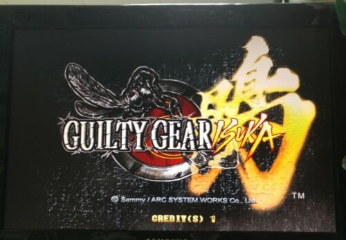 Guilty Gear Isuka With Atomiswave Mother Board Arcade Game Sammy Original