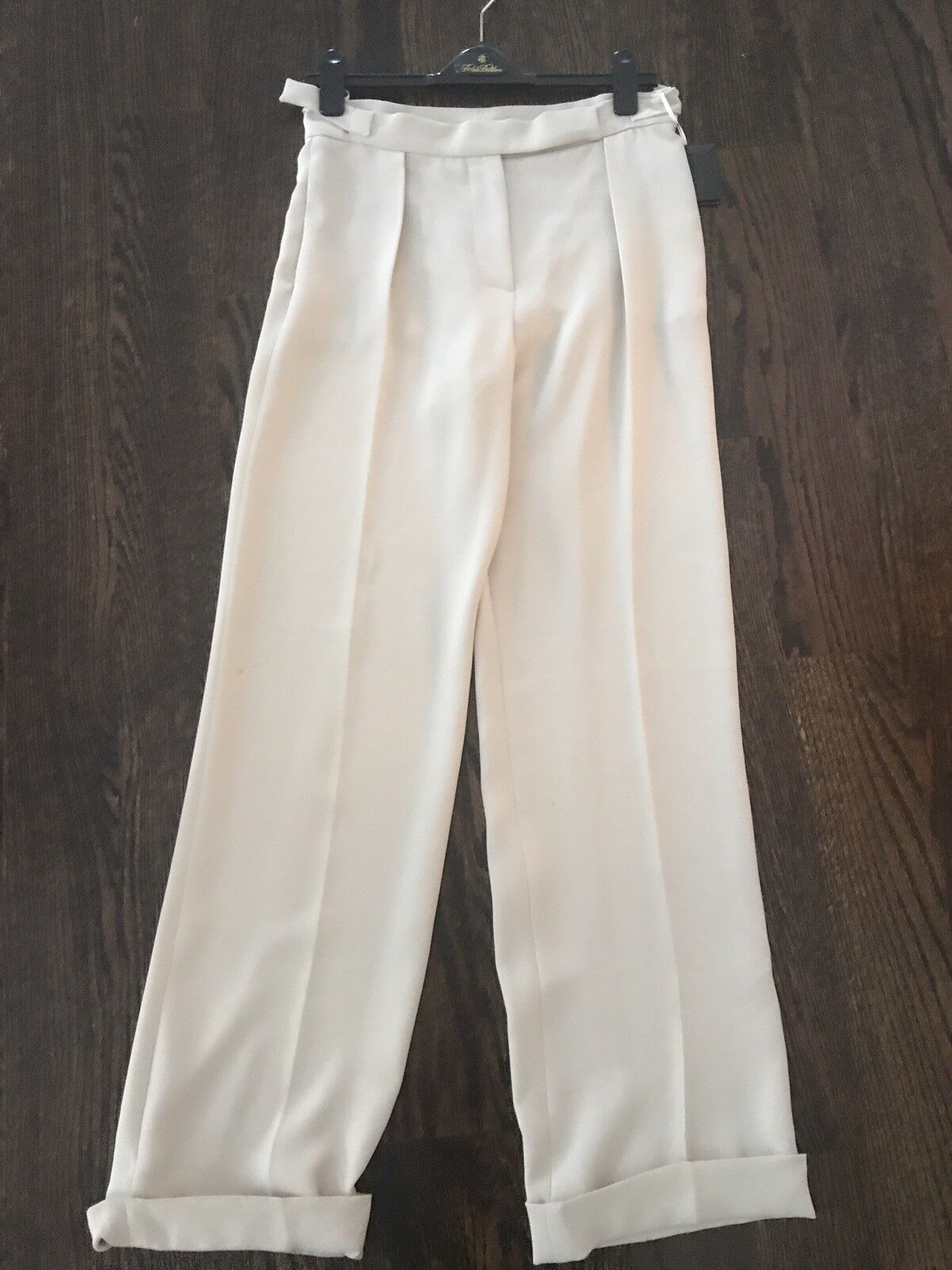 Lanvin Silk Ivory Pants Trousers Size 36 Lined  1200
