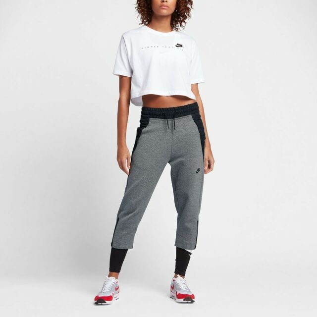 1e7192626ebc NEW NIKE TECH FLEECE SNEAKER SPORTSWEAR WOMEN S PANTS SWEATPANTS GREY BLACK  XL
