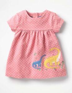 a9370c9503a5 New Mini Baby Boden Pink Dinosaur Applique Jersey Dress 6/12 Girl | eBay
