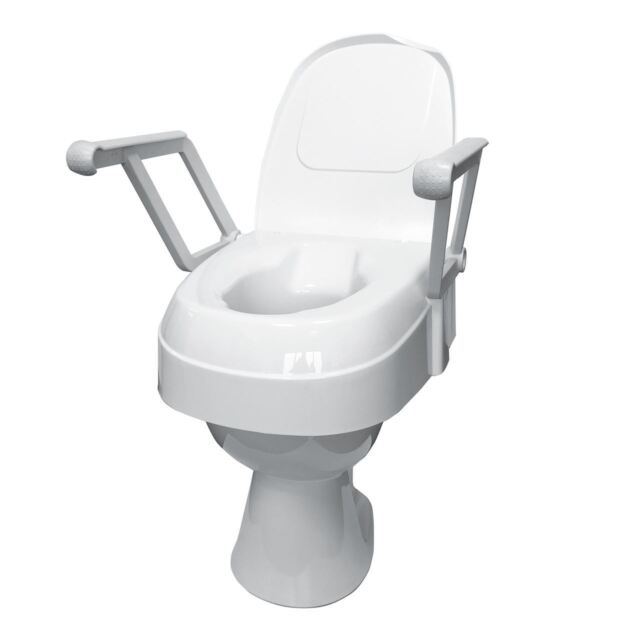 Cool Drive Height Adjustable Raised Toilet Seat With Lid And Arms Pabps2019 Chair Design Images Pabps2019Com