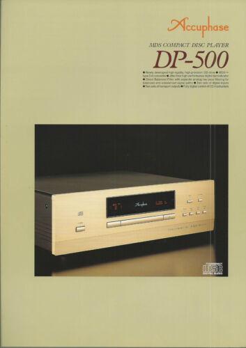 Accuphase DP-500 Katalog Prospekt Catalogue Datasheet Brochure DE