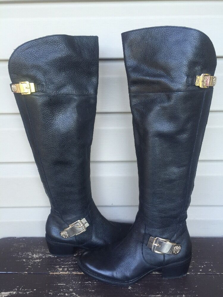 MISMATCH VINCE CAMUTO BOCCA OVER THE KNEE TALL BOOTS BLACK R 7 L 7.5 EUC  230