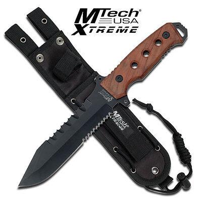 KNIFE COLTELLO DA CACCIA MTECH-8098 SURVIVOR SOPRAVVIVENZA SURVIVAL STILE RAMBO