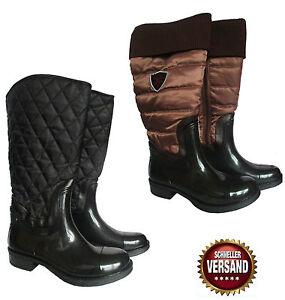 Regenstiefel Reiterstiefel Damen Details Zu Gummistiefel Winter Stiefel Gesteppte Gefüttert Yf6yb7gv