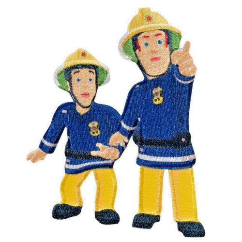 1 aufbügelmotiv ♥ Patch ♥ Fireman Sam Sam /& elvis ♥ aufbügler ♥ aplicación Nuevo