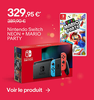 Nintendo Switch NEON + MARIO PARTY - 329,95 €*