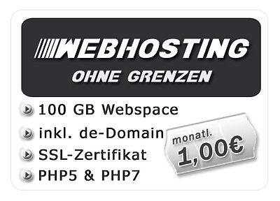 Webhosting mit 50 GB Webspace DE-Domain SSL-Zertifikat MySQL5 uvm.. PHP5//7