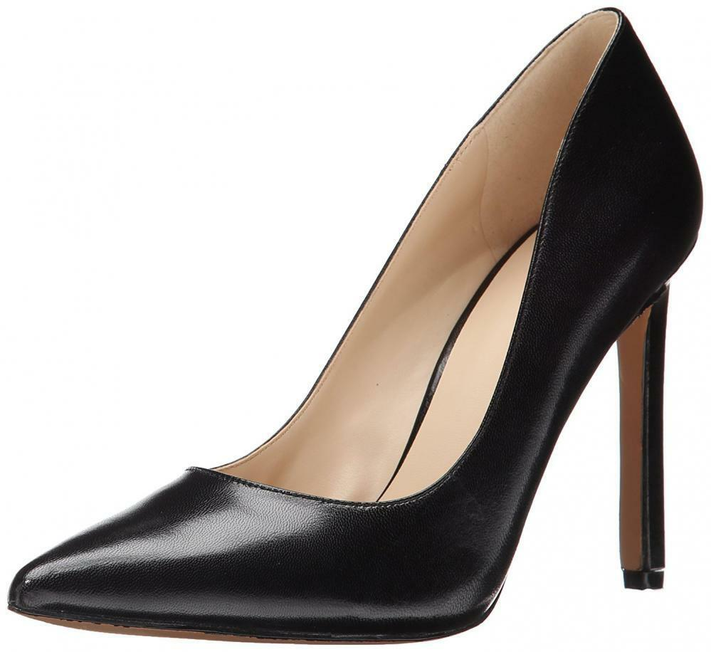 Nine West Women's Tatiana Dark Natural Suede Dress Classic Stiletto Pump Sandal