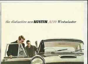 BMC AUSTIN A110 WESTMINSTER MKII SALOON AND SUPER DE LUXE SALOON BROCHURE @ 1961