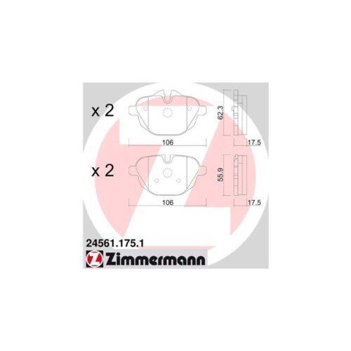 Touring X3 X4 Z4 Zimmermann Bremsbeläge hinten BMW 5er F10