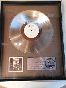 RIAA-Urban-Cowboy-MOTION-PICTURE-SOUNDTRACK-1-000-000-sales-17x21-BRF