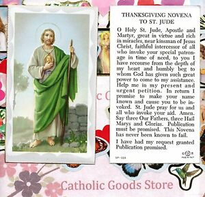 Thanksgiving novena to st saint jude paperstock holy card ebay image is loading thanksgiving novena to st saint jude paperstock holy thecheapjerseys Images