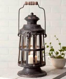 Curtis-Island-Candle-Lantern-Rustic-Primitive-Shown-w-2-034-Dia-Base-Candle