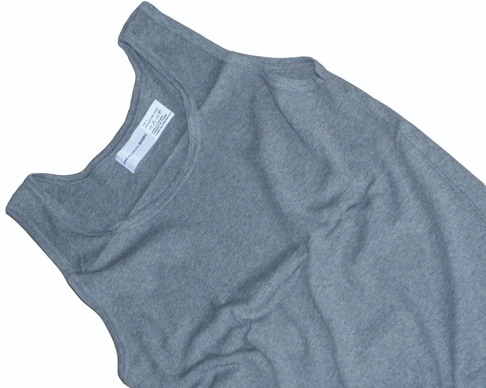 COMME des GARCONS SHIRT COTTON SLEEVELESS T-SHIRT   TANK TOP RARE XL fitted