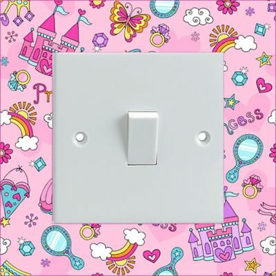 BLUE CIRCLES//SPOTS Pattern Electrical Light Switch Surround Printed Sticker