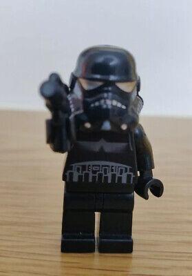 sw0166 LEGO Shadow Trooper Minifigure Black Storm Trooper Star Wars From 7667