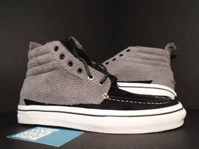 2011 VANS SK8 HI BOAT SHOES LX VAULT 2 TONE GREY BLACK WHITE VN-0L9J1WA NEW 8.5