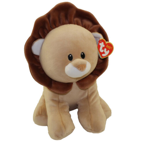 Baby TY - BOUNCER the Lion (Medium Size - 13 inch) - MWMTs BabyTy Plush Toy