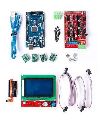 RAMPS 1.4 REPRAP 3D PRINTER CONTROLLER Mega 2560 R3 A4988 Drivers LCD