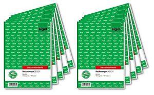 10x-Sigel-Rechnungen-SD031-A5-2-x-40-Blatt-selbstdurchschreibend