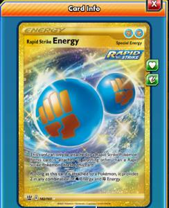DIGITAL Rapid Strike Energy Secret Rare pokemon tcg online