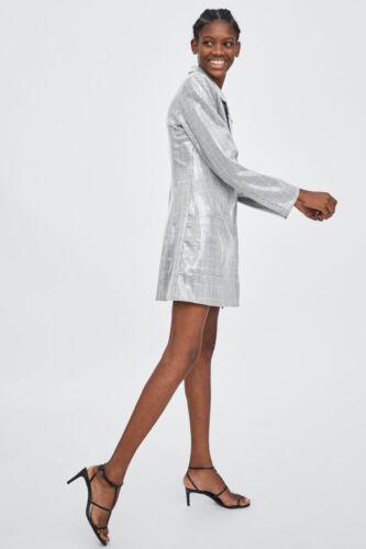 Zara Størrelser Xs New Blazer S L Sequin Aw18 Grå M 7901 303 Kjole Ref YgrYq