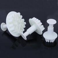 Snowflake Fondant Cake Decorating Sugarcraft Cutter Plunger Mold Mould 3pcs  hs