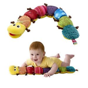Bunte-Pluesch-Musik-Raupe-Spielzeug-Raupe-Baby-Kinder-Lernspielzeug-Geschenk