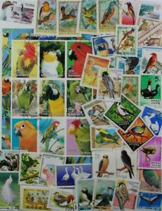 BIRDS-FANTASTIC-COLLECTION-OF-1000-DIFFERENT-STAMPS-CAT-VALUE-400-lot-DP