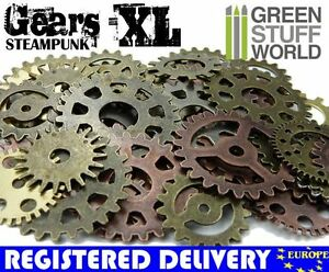 Steampunk COGS & GEARS - size XL - Set 85 gr - Jewellery Findings Embellishment