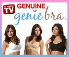 3 x GENUINE Genie Bra Seamless Bra 3 Pk set with Pads S M L XL XXL XXXL