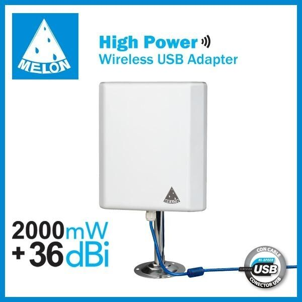 ★ 36dbi antena Panel WIFI 2000mw USB 10m cable 2W MELON N4000 810 beini Exterior