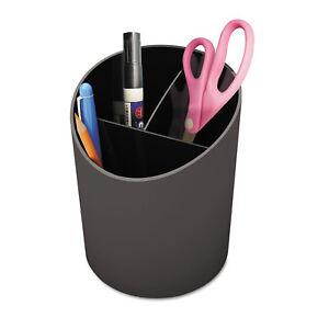UNIVERSAL-Recycled-Big-Pencil-Cup-Plastic-4-1-4-dia-x-5-3-4-Black-08108