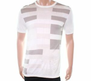 60-Alfani-Mens-Colorblock-Sweater-Knit-T-Shirt-Washed-White-Size-L