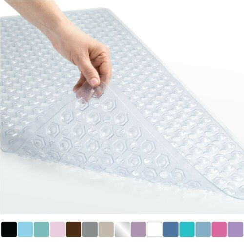 Nonskid Shower Mat Bathroom Non Slip With Drain Holes Anti Bacterial Extra Grip