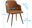 thumbnail 26 - 1 PC Mid Century Modern Leather Upholstered Accent Chair Home Office LivingRoom