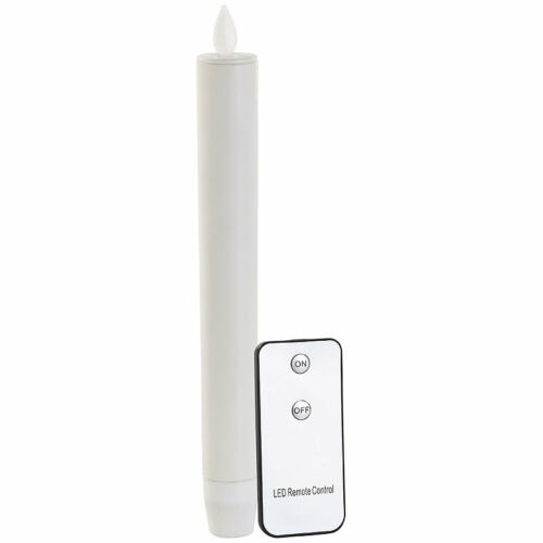Britesta LED-Stabkerze mit beweglicher Flamme und Fernbedienung weiß