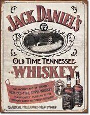 "Jack Daniels Sippin Whiskey Metal Tin Sign 16"" X 12.5"" Wall Art Decor New"