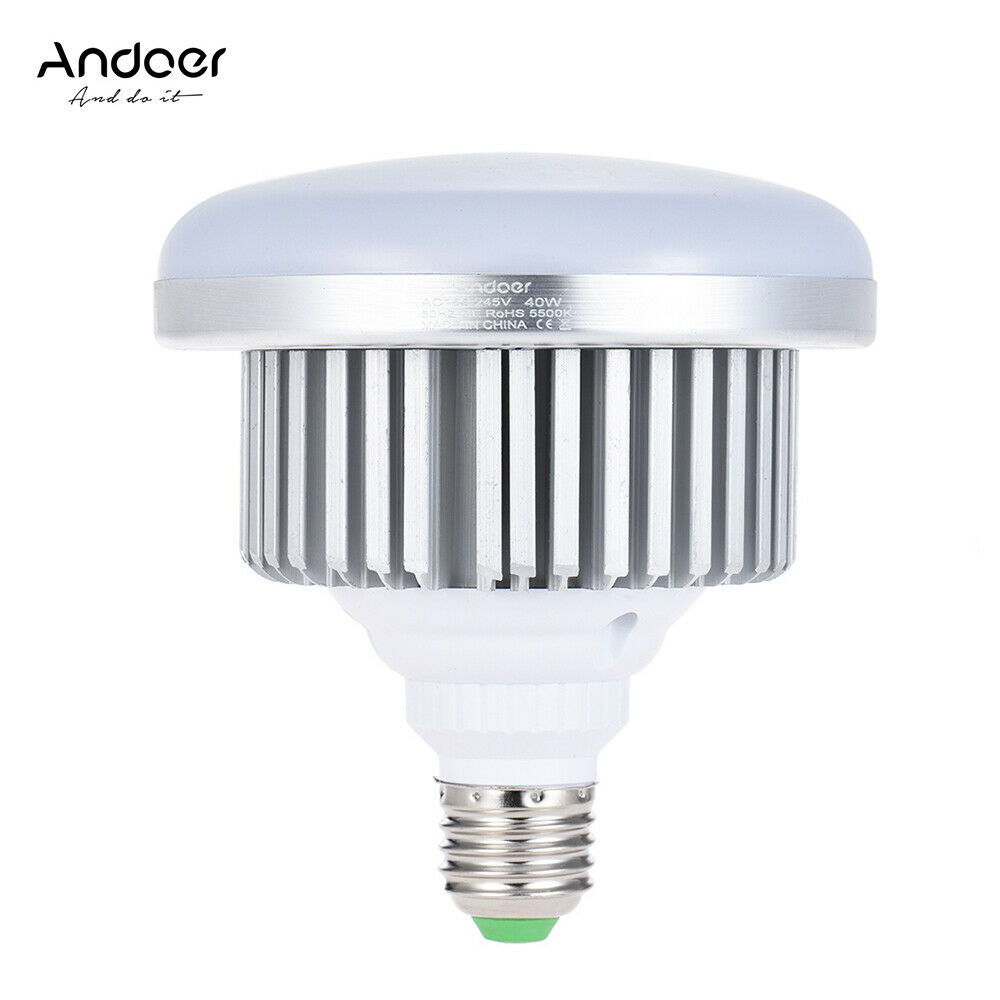LED Studio Softbox Light Bulb E27 6500K Daylight 30W SMD 2835 Office Photography