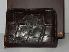 VINTAGE MULBERRY GLOSSY BROWN CONGO LEATHER PURSE/WALLET