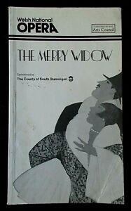 The Merry Widow programme Welsh National Opera WNO ~1984