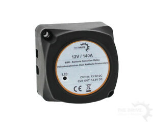 Spannungsgesteuertes-Batterie-Trennrelais-KFZ-Wohnmobil-Boot-12-V-140-Ampere