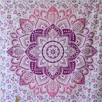 Twin Indian Wall Hanging Hippie Mandala Tapestry Bedspread Bohemian Beach Picnic