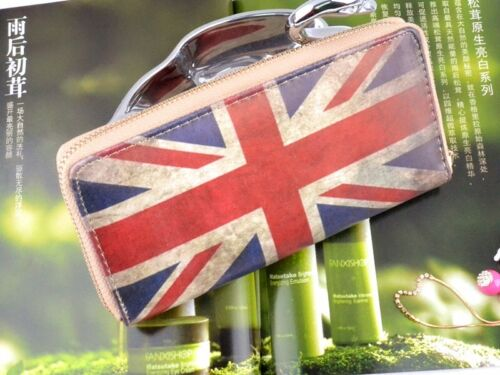 Country Flag Ladies Fashion Clutch Zipper Long Handbag Purse Clutch coin Wallet